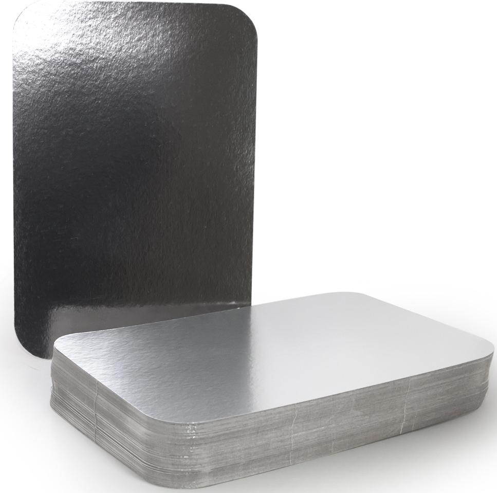 Крышка для формы Горница, 30,8 х 20,8 см, 100 шт402-720Картонная крышка ламинированная алюминием обладает теми же барьерными свойствами что и сами формы. Плотно закрывает контейнер со всех сторон, прижимаясь краями формы. Обеспечивает высочайшую сохранность продуктов за счёт отражающих свойств алюминиевого слоя. При использование алюминиевой формы с крышкой, контейнеры можно ставить друг на друга.