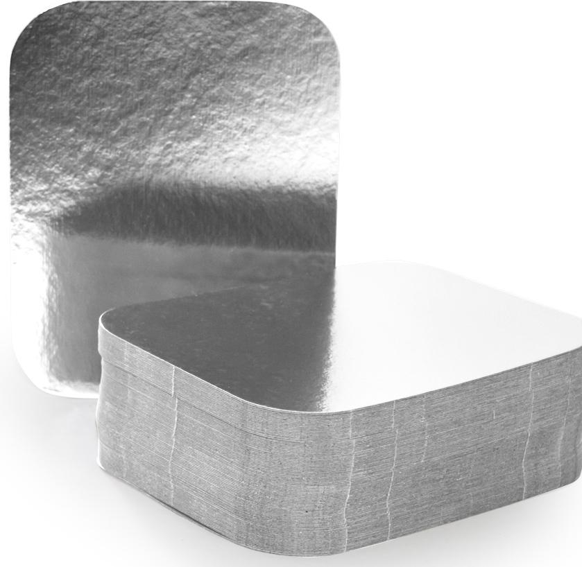 Крышка для формы Горница, 14 х 11,5 см, 100 шт402-771Картонная крышка ламинированная алюминием обладает теми же барьерными свойствами что и сами формы. Плотно закрывает контейнер со всех сторон, прижимаясь краями формы. Обеспечивает высочайшую сохранность продуктов за счёт отражающих свойств алюминиевого слоя. При использование алюминиевой формы с крышкой, контейнеры можно ставить друг на друга.