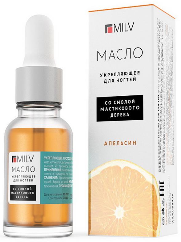 Milv Укрепляющее масло для ногтей Апельсин