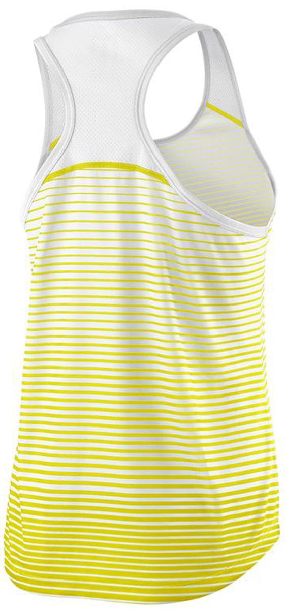 Майка женская Wilson Team Striped Tank, цвет:  желтый.  WRA766101.  Размер L (50) Wilson
