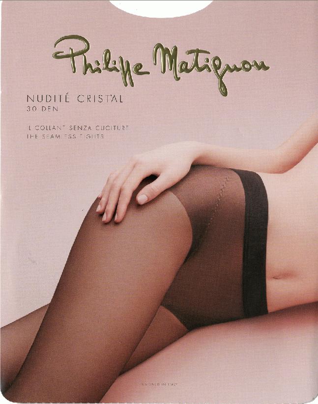 Колготки Philippe Matignon Nudite Cristal 30, цвет: Nero (черный). SNL-369098. Размер 4