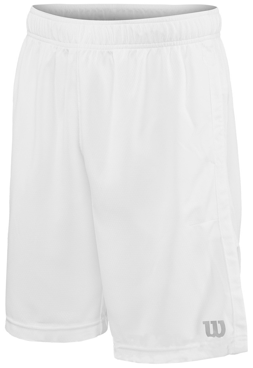 Шорты мужские Wilson Knit 9 Short, цвет: белый. WRA769502. Размер M (48)WRA769502Спортивные шорты от Wilson выполнены из высококачественного полиэстера. Модель с эластичной резинкой на талии.