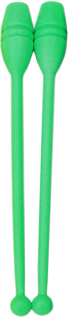 Булава гимнастическая, цвет: зеленый, 35 см, 2 шт