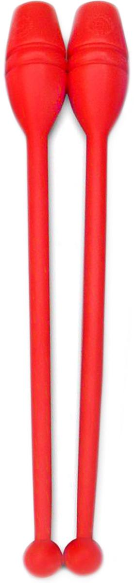Булава гимнастическая, цвет: красный, 35 см, 2 шт