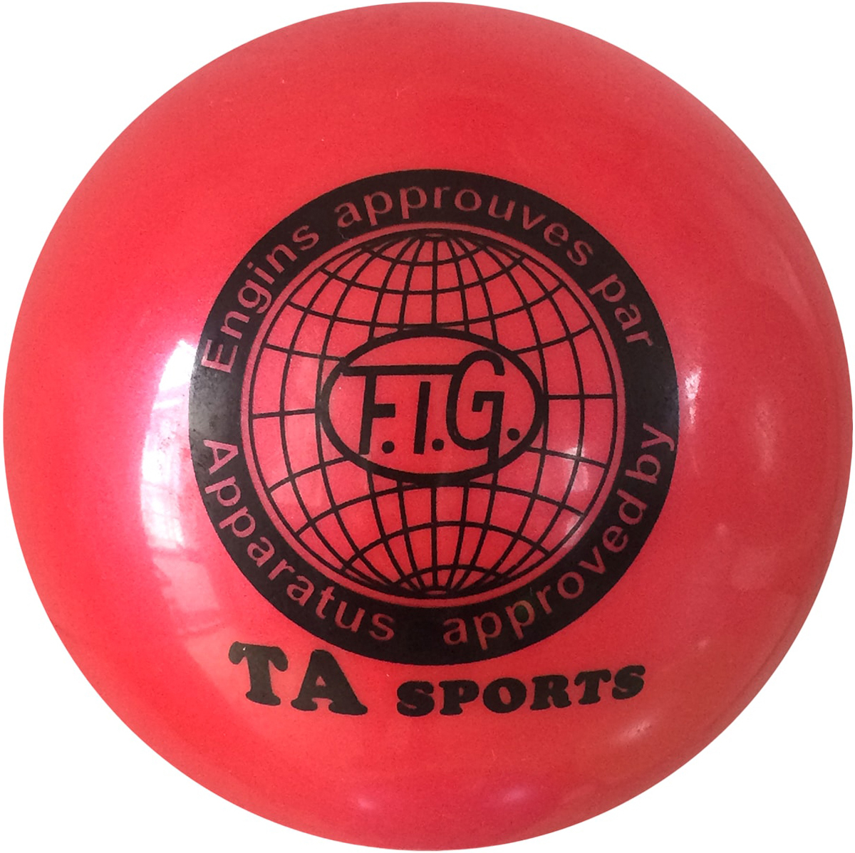 """Мяч для художественной гимнастики TA-Sport """"RGB-101"""", цвет: красный, диаметр 19 см"""