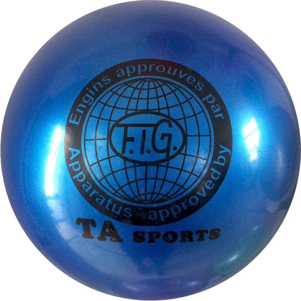 """Мяч для художественной гимнастики TA-Sport """"RGB-101"""", цвет: синий, диаметр 19 см"""