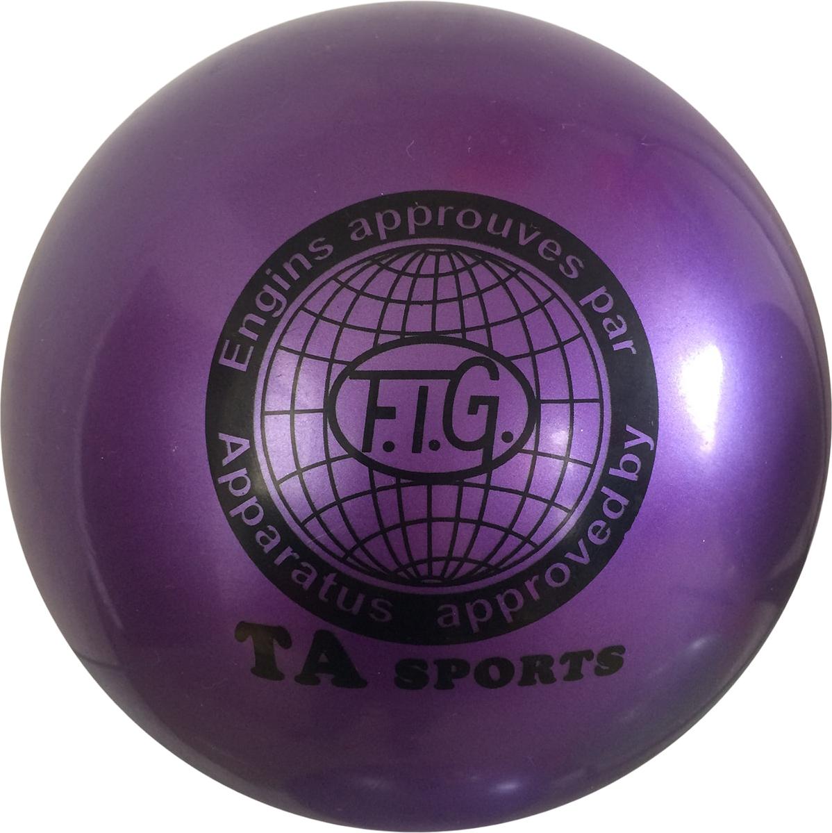 Мяч для художественной гимнастики TA-Sport RGB-101, цвет: фиолетовый, диаметр 19 см ортопедический мяч для гимнастики в курске