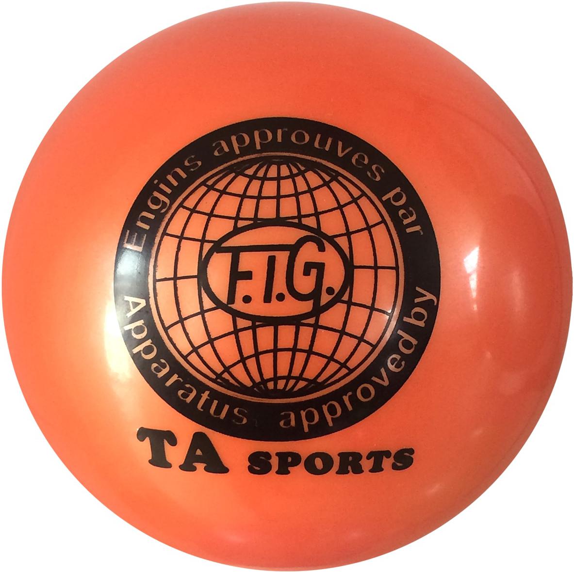 Мяч для художественной гимнастики TA-Sport RGB-101, цвет: оранжевый, диаметр 19 смУТ-00010334Практичный и надежный мяч для художественной гимнастики от TA-Sport выполнен из прочного ПВХ яркого цвета без блесток. Мяч диаметром 19 см предназначен для спортсменок-юниоров и взрослых гимнасток. Как правило, цвет мяча подбирается под образ и костюм гимнастки.Хранить мяч нужно в чехле, чтобы на нем не появились царапины. В зимнее время следует использовать утепленный чехол, чтобы мяч не сдувался от перепада температуры. Желательно избегать попадания прямых солнечных лучей.