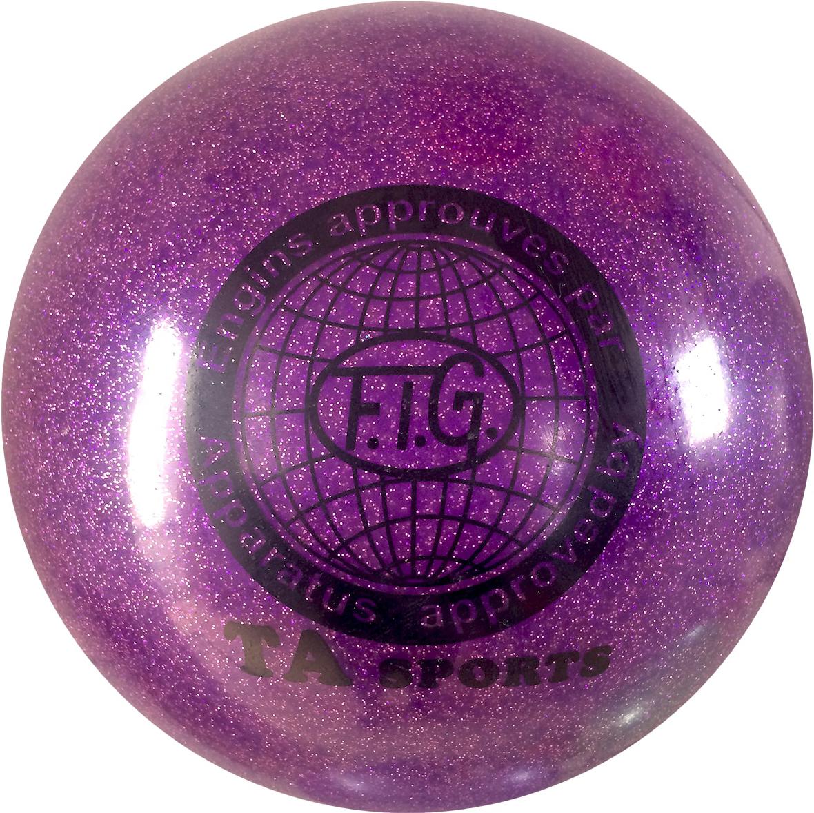 Мяч для художественной гимнастики TA-Sport RGB-102, с блестками, цвет: фиолетовый, диаметр 19 смУТ-00010341Практичный и надежный мяч для художественной гимнастики диаметром 15 см. Цвет яркий, однотонный, без глиттера. Мяч диаметром 15 см предназначен для гимнасток самого юного возраста (от 4 до 7 лет). Как правило, цвет мяча подбирается под образ и костюм гимнастки.Хранить мяч нужно в чехле, чтобы на нем не появились царапины. Мячи с разноцветным покрытием или с блёстками имеют тонкий слой красочного покрытия, требующий бережного отношения. В зимнее время следует использовать утеплённый чехол, чтобы мяч не сдувался от перепада температуры. Желательно избегать попадания прямых солнечных лучей.Характеристики:Размер: 15 смМатериал: ПВХВес: 0,28 кг
