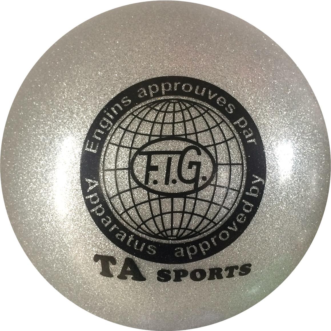 Мяч для художественной гимнастики TA-Sport RGB-102, с блестками, цвет: серый, диаметр 19 смУТ-00010344Практичный и надежный мяч для художественной гимнастики от TA-Sport выполнен из прочного ПВХ яркого цвета с блестками. Мяч диаметром 19 см предназначен для спортсменок-юниоров и взрослых гимнасток. Как правило, цвет мяча подбирается под образ и костюм гимнастки.Хранить мяч нужно в чехле, чтобы на нем не появились царапины. Мячи с разноцветным покрытием или с блестками имеют тонкий слой красочного покрытия, требующий бережного отношения. В зимнее время следует использовать утепленный чехол, чтобы мяч не сдувался от перепада температуры. Желательно избегать попадания прямых солнечных лучей.