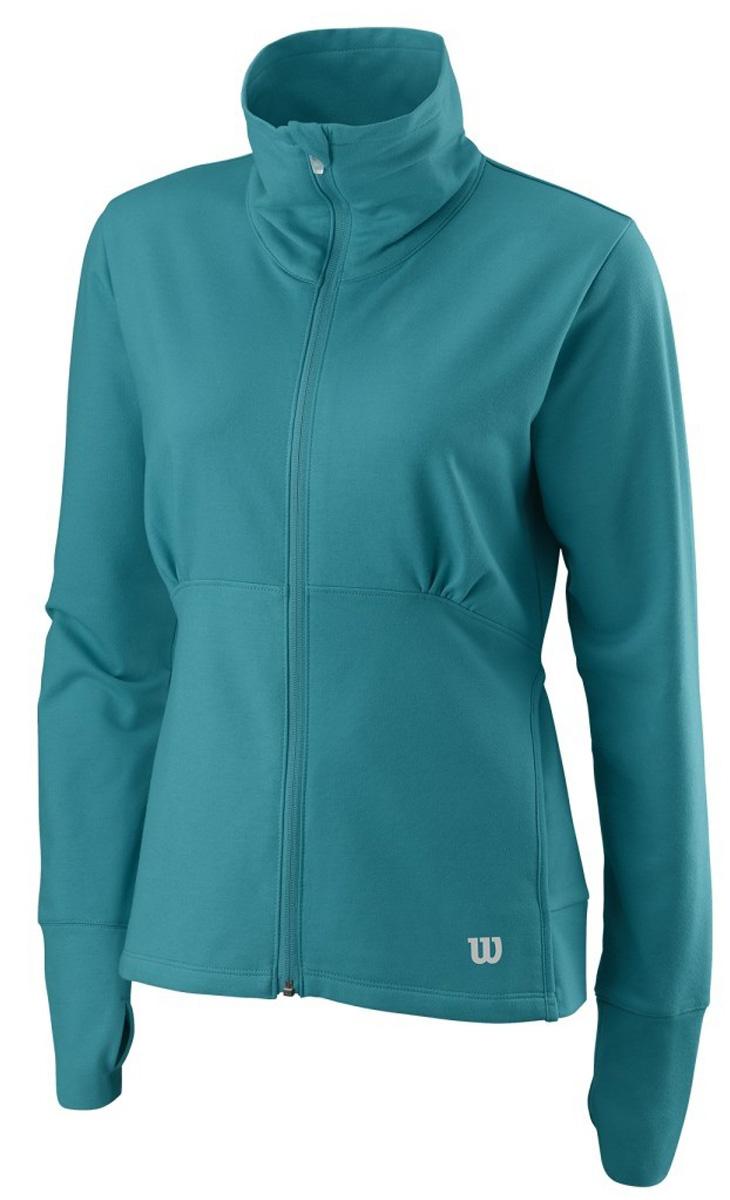 Ветровка женская Wilson Knit Jacket, цвет: бирюзовый. WRA723603. Размер XL (52/54)WRA723603Ветровка от Wilson выполнена из высококачественного материала с добавлением хлопка. Легкая модель с длинными рукавами и воротником-стойкой застегивается на молнию.