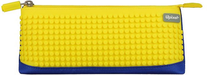 Upixel Пиксельный пенал в ярких красках цвет синий желтый80781Детский пенал важный элемент в жизни любого школьника, незаменимый аксессуар с размещением десятка карандашей, нескольких ручек, ластика, маленькой линейки и точилки. А для модных девочек-тинейджеров, как вариант может стать стильной косметичкой, под пудру, зеркальце, макияжные кисточки и конечно же под мобильный телефон. В комплекте: маленькие пиксели (фишки) разноцветные, 80 шт. Фирменный буклет с возможными вариантами изображений