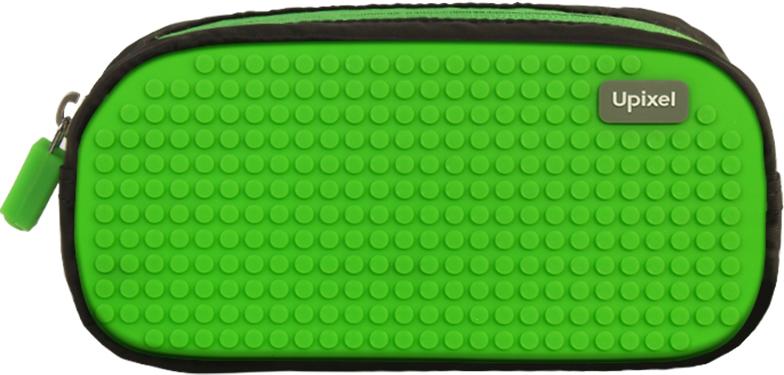 Upixel Пенал школьный пиксельный Dreamer цвет черный зеленый