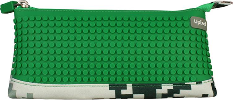 Upixel Пиксельный пенал в ярких красках цвет зеленый80947Детский пенал важный элемент в жизни любого школьника, незаменимый аксессуар с размещением десятка карандашей, нескольких ручек, ластика, маленькой линейки и точилки. А для модных девочек-тинейджеров, как вариант может стать стильной косметичкой, под пудру, зеркальце, макияжные кисточки и конечно же под мобильный телефон. В комплекте: маленькие пиксели (фишки) разноцветные, 80 шт. Фирменный буклет с возможными вариантами изображений