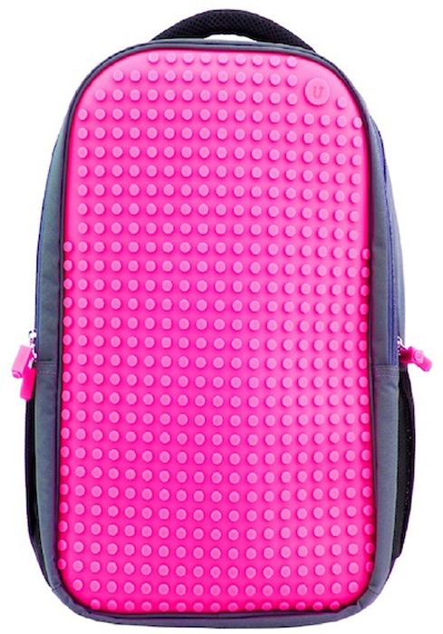 """Upixel Пиксельный рюкзак для ноутбука цвет фуксия80006Надежный и вместительный рюкзак для ноутбука с эргономической спинкой. Ткань с водоотталкивающей пропиткой и утолщенные внутренние стенки обеспечат отличную защиту вашему цифровому помощнику с диагональю экрана 15"""". А современный дизайн и возможность ежедневно изменять внешний вид рюкзака всегда будут создавать акцент и задавать ваш тренд окружающим. В комплекте: Большие пиксели (фишки) разноцветные, 120 шт. Фирменный буклет с возможными вариантами изображений"""