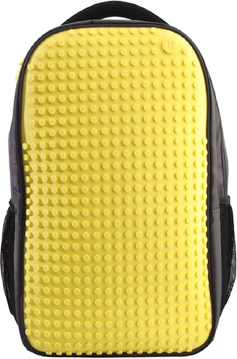 """Upixel Пиксельный рюкзак для ноутбука цвет желтый80066Надежный и вместительный рюкзак для ноутбука с эргономической спинкой. Ткань с водоотталкивающей пропиткой и утолщенные внутренние стенки обеспечат отличную защиту вашему цифровому помощнику с диагональю экрана 15"""". А современный дизайн и возможность ежедневно изменять внешний вид рюкзака всегда будут создавать акцент и задавать ваш тренд окружающим. В комплекте: Большие пиксели (фишки) разноцветные, 120 шт. Фирменный буклет с возможными вариантами изображений"""