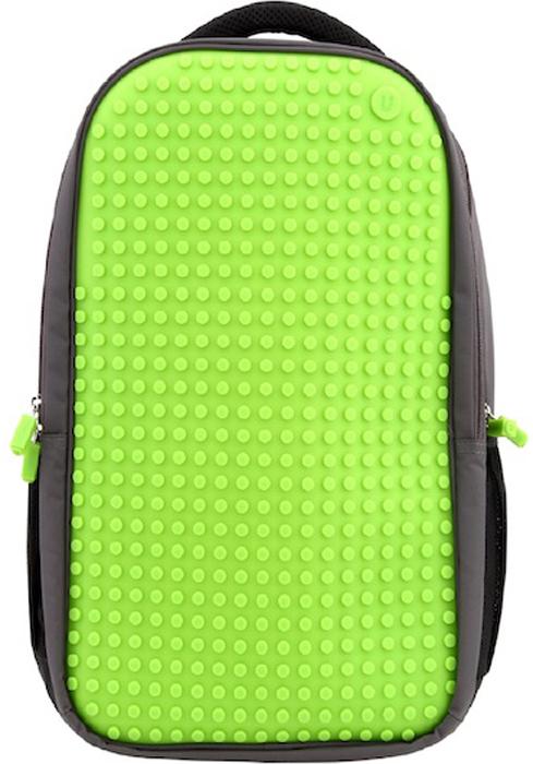 """Upixel Пиксельный рюкзак для ноутбука цвет зеленый80067Надежный и вместительный рюкзак для ноутбука с эргономической спинкой. Ткань с водоотталкивающей пропиткой и утолщенные внутренние стенки обеспечат отличную защиту вашему цифровому помощнику с диагональю экрана 15"""". А современный дизайн и возможность ежедневно изменять внешний вид рюкзака всегда будут создавать акцент и задавать ваш тренд окружающим. В комплекте: Большие пиксели (фишки) разноцветные, 120 шт. Фирменный буклет с возможными вариантами изображений"""