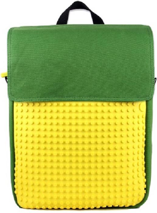 """Upixel Пиксельный рюкзак цвет зеленый желтый80084Универсальный рюкзак качественно крепкого пошива из """"CANVAS"""" ткани, идеально подойдет студенту, любящему время от времени экстремальный отдых. После учебы, вечером в пятницу, решили с друзьями прокатится на скейте, велосипеде или пройтись за городом по пересеченной местности, по сопкам к озеру, не заходя домой чтобы взять громоздкую сумку? этот рюкзак выдержит все перечисленные нагрузки, вместит все самое необходимое и сохранит в целости ноутбук от влаги за счет водостойкой пропитки. Универсальность выдержанного внешнего стиля соответствует всем канонам молодежи, а за счет возможности изменять внешний вид лицевой пиксельной панели позволит вам выделится в толпе благодаря своему индивидуальному подходу. В комплекте: Большие пиксели (фишки) разноцветные, 180 шт. Фирменный буклет с возможными вариантами изображений"""