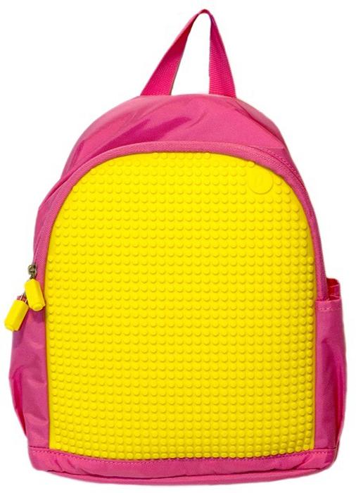 Upixel Мини рюкзак цвет розовый желтый80218Небольшой аккуратный рюкзачок для дошкольника, в котором ребенок будет носить любимые игрушки и другие вещи для прогулки. Подойдет для посещения дополнительных занятий, секций и кружков, а так же для путешествий и поездок. Большая пиксельная панель позволит не скучать в поездке и украсить рюкзак изображениями любимых персонажей. В комплекте: маленькие пиксели (фишки) разноцветные, 120 шт. Фирменный буклет с возможными вариантами изображений