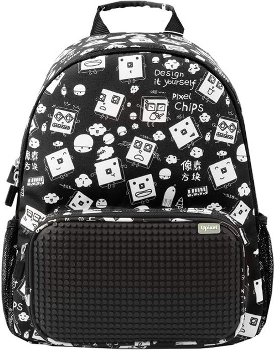 Upixel Детский рюкзак Floating Puff цвет черный80856Оформление в уличном стиле с пиксельными персонажами, призывающими ккреативному решению, уже само по себе будет вызывать интерес уодноклассников, друзей по спортивной площадке или гонке в любимомскейтпарке.