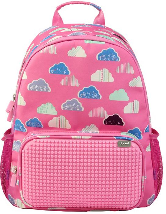 Upixel Детский рюкзак Floating Puff цвет розовый80857Нежно-розовое решение фона с воздушными облачками уже само по себе вызывает ощущение легкости и позитивного настроения детской сказки. Данная модель - это прогулочный и школьный вариант первоклашки для маленьких принцесс, но если вы в душе также любите сказку и креатив, то этот рюкзак безусловно вам подойдет. А с индивидуальным оформлением он станет еще более сказочным и приметным для окружающих.