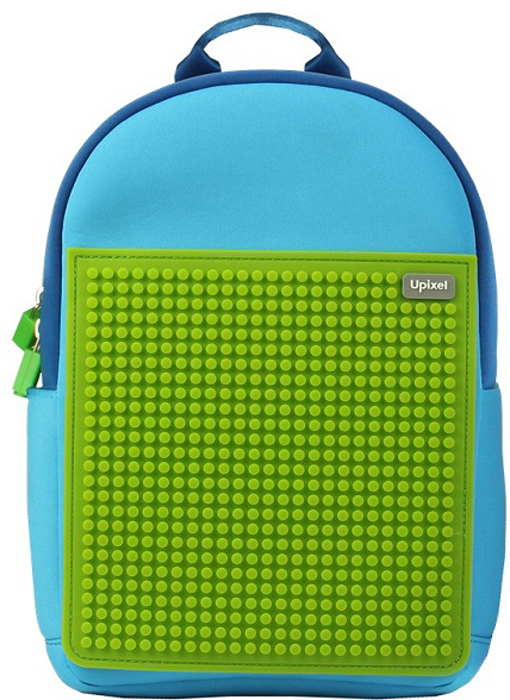 Upixel Детский рюкзак Rainbow Island цвет голубой зеленый80864Универсальный, яркий, радужный и компактный рюкзак для всего самого необходимого, как раз подойдет для прогулочного варианта на отдыхе по набережной или экскурсии. Модный тинейджер сможет лишний раз выделится в толпе и за счет пиксельного рисунка подчеркнуть свою индивидуальность. И конечно же, данную модель вполне можно использовать, как дошкольный вариант. В комплекте: маленькие пиксели (фишки) разноцветные, 120 шт. Фирменный буклет с возможными вариантами изображений