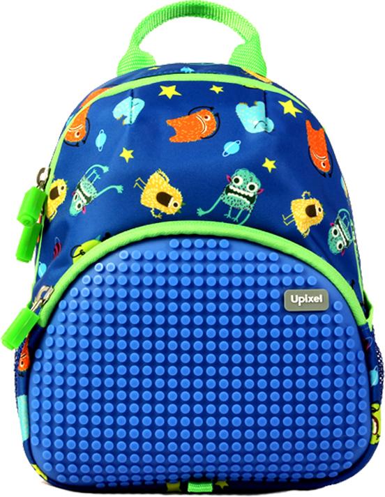 Upixel Рюкзак для малышей Эльф цвет синий80885Ваш малыш любит космос и мультяшных инопланетных монстров, тогда этот вариант на сто процентов подойдет вашему маленькому астронавту. А собственноручное уникальное оформление лишний раз подчеркнет индивидуальность. В комплекте: Маленькие пиксели (фишки) разноцветные, 120 шт. Фирменный буклет с возможными вариантами изображений.