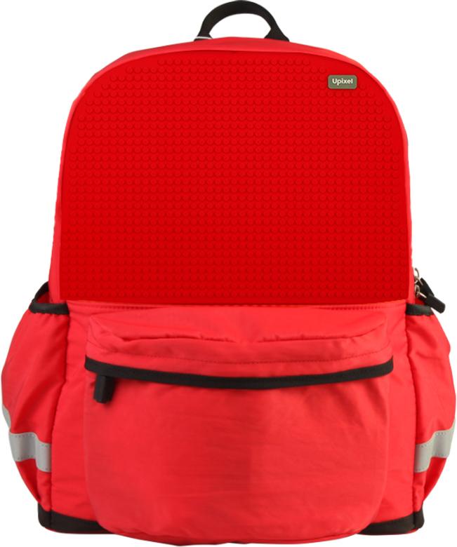 Upixel Школьный рюкзак Explorer цвет красный80898Яркий, удобный, практичный, это те параметры, которые первые приходят в голову при выборе рюкзака в школу. Этот вариант до декорирования пикселями всем своим видом восклицает о том, что он для школьника, а с возможностью реализации творческих идей рюкзак подчеркнет индивидуальность ребенка. Качество же материала с его водонепроницаемым свойством позволит сохранить в целости учебники и планшет при влажной погоде или озорной прогулке по лужам после окончания уроков. Ваш маленький исследователь будет рад. В комплекте: маленькие пиксели (фишки) разноцветные, 120 шт. Фирменный буклет с возможными вариантами изображений