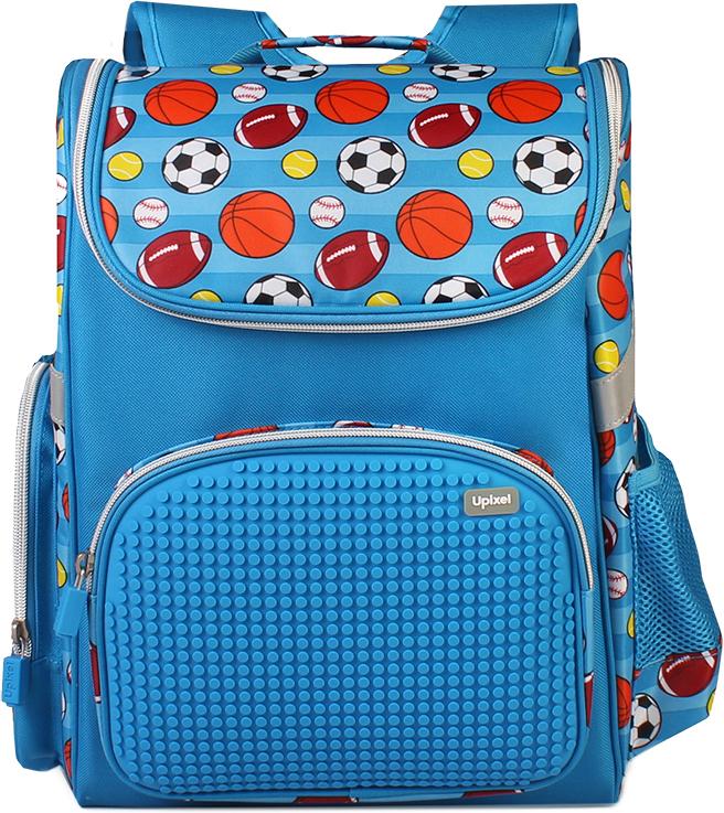 Upixel Детский рюкзак Game High80910Яркий, удобный, практичный, это те параметры, которые первые приходят в голову при выборе рюкзака в школу. Школьный рюкзак с оригинальным спортивным принтом, и пиксельной панелью подойдет для реализации творческих идей и подчеркнет индивидуальность ребенка. Качество же материала с его водонепроницаемым свойством позволит сохранить в целости учебники, тетради, планшет при влажной погоде или озорной прогулке по лужам после окончания уроков. В комплекте: маленькие пиксели (фишки) разноцветные, 120 шт. Фирменный буклет с возможными вариантами изображений
