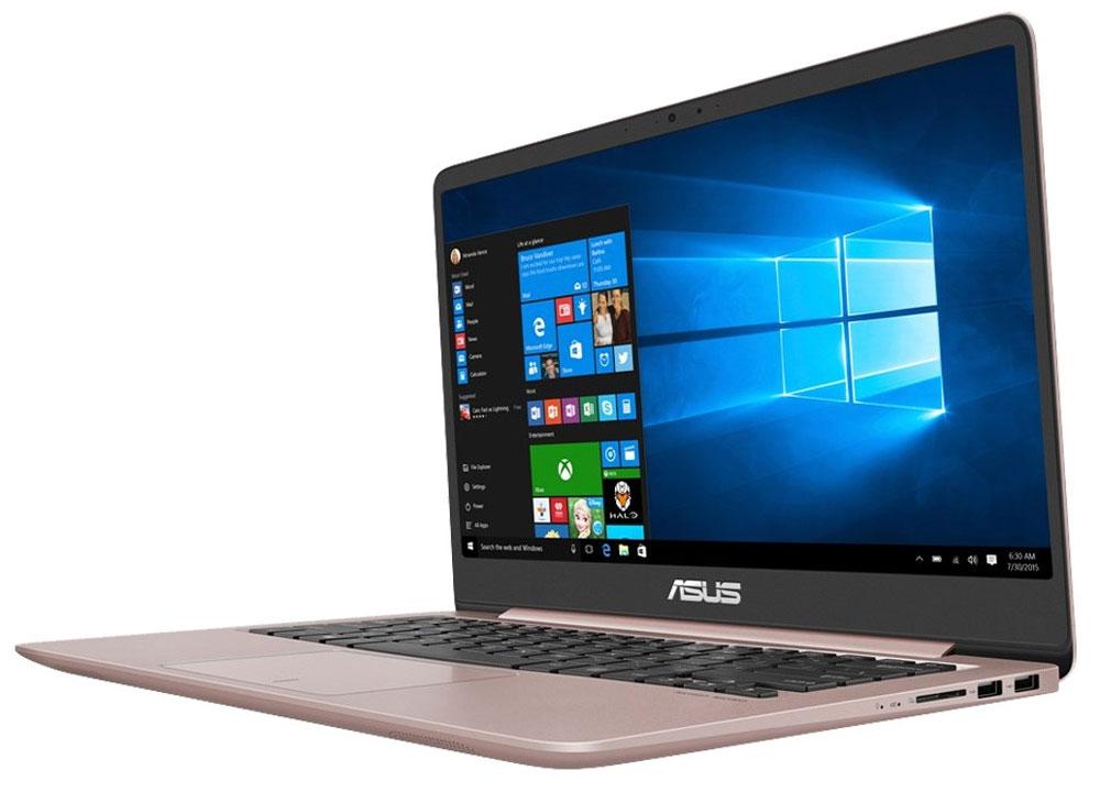 ASUS ZenBook UX410UF, Rose Gold (UX410UF-GV029T)UX410UF-GV029TНовый ноутбук ASUS Zenbook UX410 является воплощением элегантности, утонченности и непревзойденнойпроизводительности в исключительно тонкой и легкой форме. Выполненный в прочном алюминиевом корпусе склассической концентрической отделкой в стиле Дзен, он имеет толщину всего 18,95 мм. При массе всего 1,4 кгустройство представляет собой идеальный выбор для людей, много времени проводящих в дороге. Благодарявеликолепному 14-дюймовому дисплею с широкими углами обзора работать на нем всегда комфортно. Высокая вычислительная мощь нового ZenBook UX410 гарантирует быструю работу любых, даже самыхресурсоемких, приложений. В его аппаратную конфигурацию входят современный процессор Intel Core новогопоколения, видеокарта NVIDIA GeForce MX130 и 8 гигабайт оперативной памяти DDR4, работающей на частоте2400 МГц. Ноутбук оборудован новейшим двухдиапазонным модулем Wi-Fi стандарта 802.11ac и поддерживаетбеспроводной интерфейс Bluetooth 4.1. Он оборудован также высокоскоростным портом USB Type-C, имеющимспециальную конструкцию, которая позволяет подключать USB-кабель к устройству любой стороной. Ноутбукможет передавать видеосигнал по интерфейсу HDMI на любой совместимый монитор, телевизор или проектор.С таким техническим оснащением ZenBook UX410 готов к любой задаче, независимо от степени ее сложности.Энергоэффективные компоненты также являются залогом длительного времени автономной работыустройства.Потрясающий дисплей формата Full HD подарит пользователю настоящее удовольствие как при чтении текста,так и при просмотре видео и фотографий. Высокое разрешение способствует также более качественномуредактированию фото- и видеоматериалов, позволяя улучшать мельчайшие детали изображения.Дисплей ZenBook UX410 обеспечивает воспроизведение 72% цветового пространства NTSC, 100% SRGB и 74%Adobe RGB. На простом языке это означает, что он может показывать больше оттенков, а также отображать ихточнее и ярче, чем любой стандартный дисплей