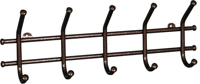 Вешалка настенная ЗМИ Норма, 5 крючков, 48 х 8 х 16,8 см вешалка настенная с 5 крючками agama