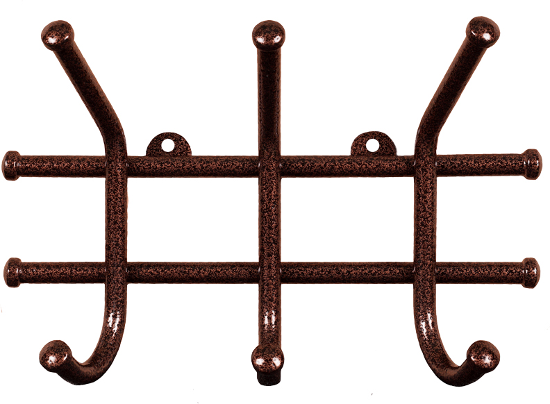 Вешалка настенная ЗМИ Норма, 3 крючка, 23 х 8 х 16,8 см вешалка настенная с 5 крючками agama