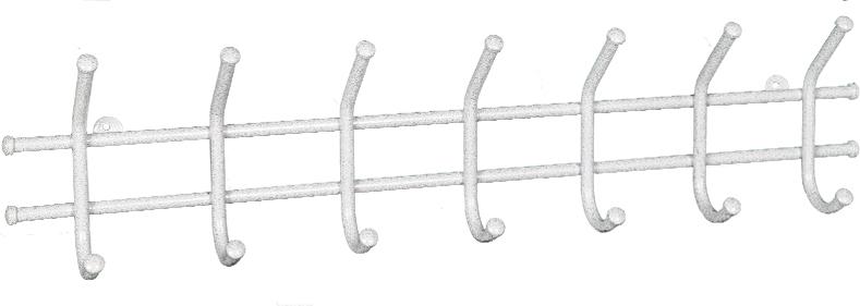 Вешалка настенная ЗМИ Норма, 7 крючков, цвет: белый, 70,5 х 8 х 16,8 смВН 66 БСВешалка настенная ЗМИ Норма 7 предназначена для размещения одежды в любых помещениях - дом, офис, общепит и т.п. Вешалка выполнена из стальной трубы диаметром 10 мм.; стальные колпачки; полимерно-порошковое покрытие.В конструкцию входят 7 крючков с металлическими колпачками и петельками для крепления. Металлическая вешалка функциональна, надежна и проста в уходе. Данное изделие полностью безопасно в использовании. Конструкция: цельносварная.