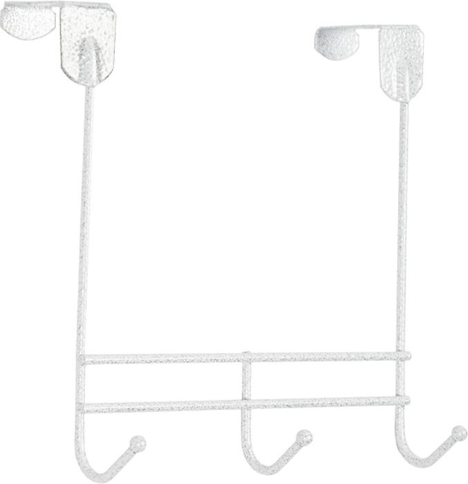 Вешалка надверная ЗМИ Нота, 3 крючка, цвет: белый, 22,6 х 8 х 20,5 см