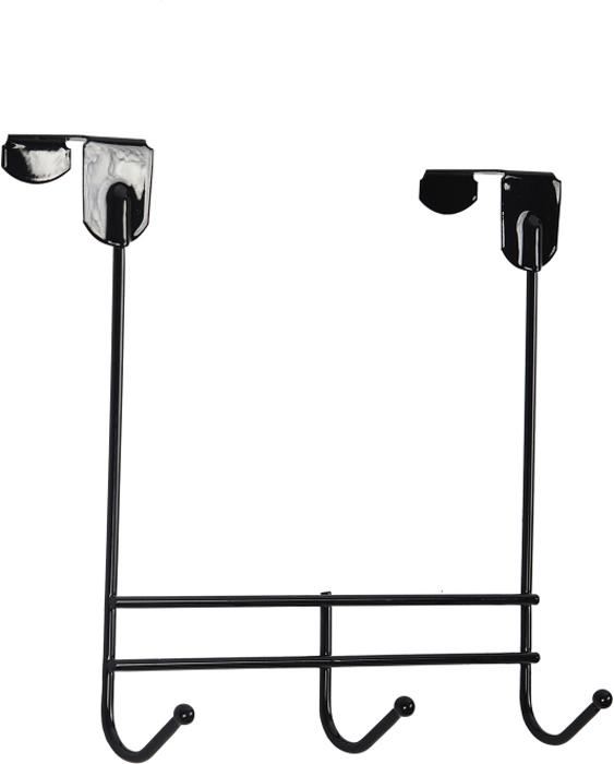 Вешалка надверная ЗМИ Нота, 3 крючка, цвет: черный, 22,6 х 8 х 20,5 см стальные шарики 10 мм