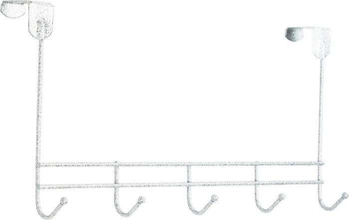 Вешалка надверная ЗМИ Нота, 5 крючков, цвет: белый, 42,6 х 8 х 20,5 смВНД 310 БСНадверная вешалка для размещения одежды, В любых помещениях – дом, офис, общепит и т.п.Материал: Проволока диаметром 4 мм; стальные шарики; полимерно-порошковое покрытие- надежная сварная конструкция - пять надежных крючков - для размещения на дверях до 4 см - допустимая нагрузка до 5 кг на крючок. Вешалка надверная Нота 5 подойдет для любых дверей до 4 см. Подойдет для размещения на дверях в спальне, детской и ванной комнате. Конструкция: ЦельносварнаяГабариты (Д*Ш*В): 426*80*205 мм