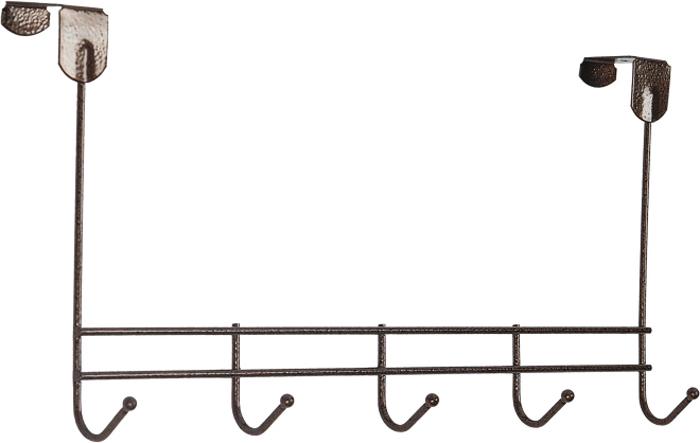 """Надверная вешалка ЗМИ """"Нота"""" предназначена для размещения одежды в любых помещениях. Вешалка выполнена из проволоки диаметром 4 мм; стальные шарики; полимерно-порошковое покрытие.  Конструкция: цельносварная.  Отличительные особенности:  - надежная сварная конструкция; - три надежных крючка; - для размещения на дверях до 4 см;  Надверная вешалка ЗМИ """"Нота"""" подойдет для любых дверей до 4 см. Подойдет для размещения на дверях в спальне, детской и ванной комнате. Надверная вешалка имеет пять крючков. Металлическая вешалка надежна и проста в уходе. Данное изделие безопасно в использовании."""