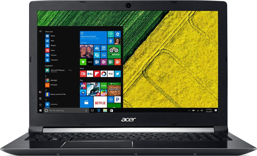 Acer Aspire A715-71G-51J1, Black (NX.GP8ER.008)NX.GP8ER.008Ноутбук Acer Aspire A715-71G-51J1 Core i5 7300HQ/8Gb/500Gb/nVidia GeForce GTX 1050 2Gb/15.6/FHD (1920x1080)/Windows 10/black/WiFi/BT/Cam/3220mAh
