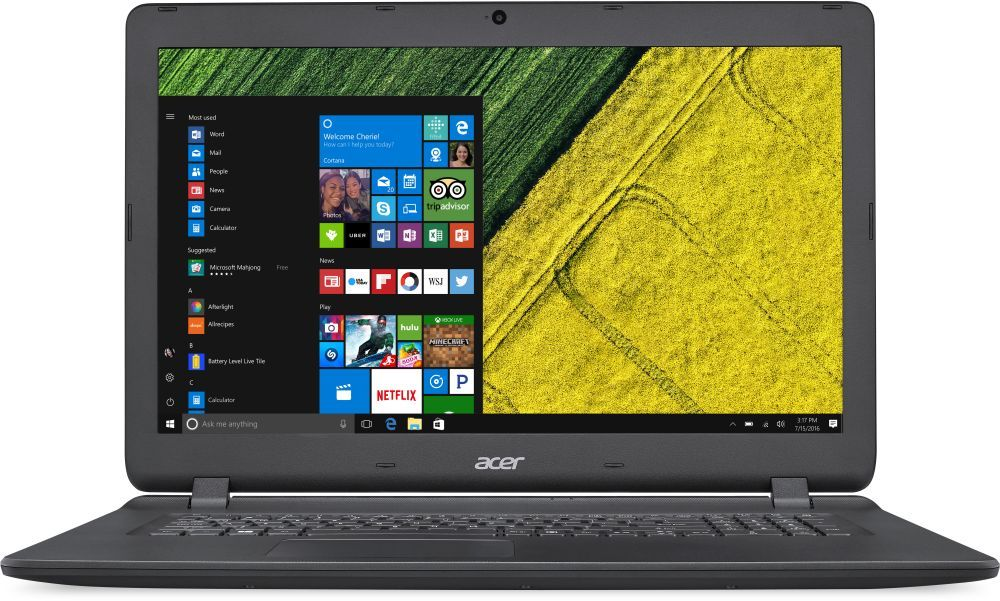 Acer Aspire ES1-732-P01M, Black (NX.GH4ER.021)NX.GH4ER.021Ноутбук Acer Aspire ES1-732-P01M Pentium N4200/6Gb/1Tb/Intel HD Graphics 505/17.3/HD+ (1600x900)/Windows 10 64/black/WiFi/BT/Cam/3220mAh