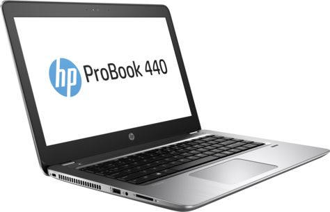 HP ProBook 440 G4, Silver (Y7Z64EA)Y7Z64EAНоутбук HP ProBook 440 G4 Core i3 7100U/4Gb/500Gb/Intel HD Graphics 620/14/SVA/HD (1366x768)/Windows 10 Professional 64/silver/WiFi/BT/Cam