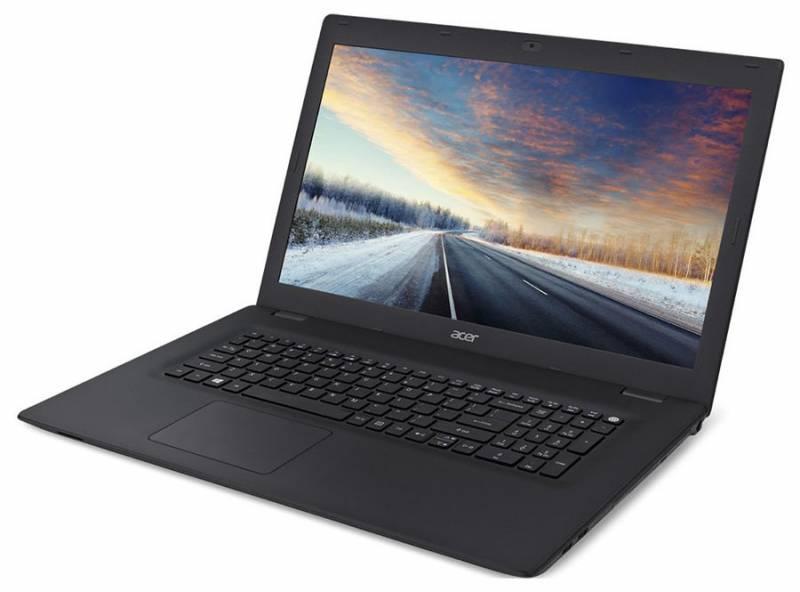 Acer TravelMate TMP278-M-P57H, Black (NX.VBPER.010)NX.VBPER.010Ноутбук Acer TravelMate TMP278-M-P57H Pentium 4405U/4Gb/500Gb/Intel HD Graphics 510/17.3/HD+ (1600x900)/Windows 10/black/WiFi/BT/Cam/2520mAh