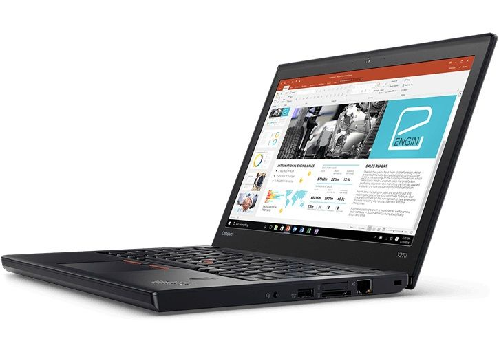 Lenovo ThinkPad X270, Black (20HN0013RT)20HN0013RTНоутбук Lenovo ThinkPad X270 Core i7 7500U/8Gb/SSD256Gb/Intel HD Graphics 620/12.5/IPS/FHD (1920x1080)/Windows 10 Professional 64/black/WiFi/BT/Cam