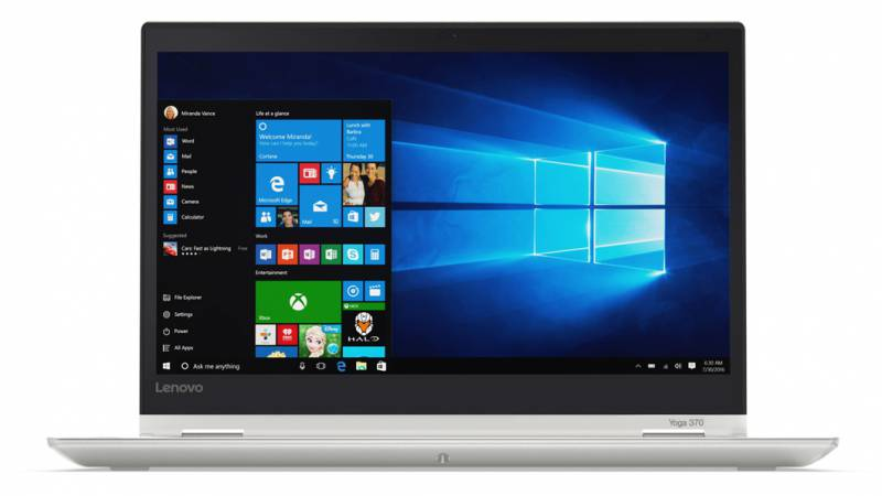 Lenovo ThinkPad Yoga 370, Silver (20JH003DRT)20JH003DRTТрансформер Lenovo ThinkPad Yoga 370 Core i5 7200U/4Gb/SSD128Gb/Intel HD Graphics 620/13.3/IPS/Touch/FHD (1920x1080)/Windows 10 Professional/silver/WiFi/BT/Cam