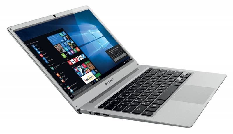 Digma EVE 300, Silver (ES3004EW)ES3004EWНоутбук Digma EVE 300 Atom X5 Z8350/2Gb/SSD32Gb/Intel HD Graphics 400/13.3/IPS/FHD (1920x1080)/Windows 10 Home 64/silver/WiFi/BT/Cam/8000mAh