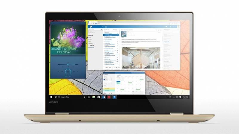 Lenovo Yoga 520-14IKB, Gold (80X8001YRK)80X8001YRKТрансформер Lenovo YOGA 520-14IKB Core i7 7500U/8Gb/1Tb/SSD128Gb/nVidia GeForce 940MX 2Gb/14/IPS/Touch/FHD (1920x1080)/Windows 10/gold/WiFi/BT/Cam