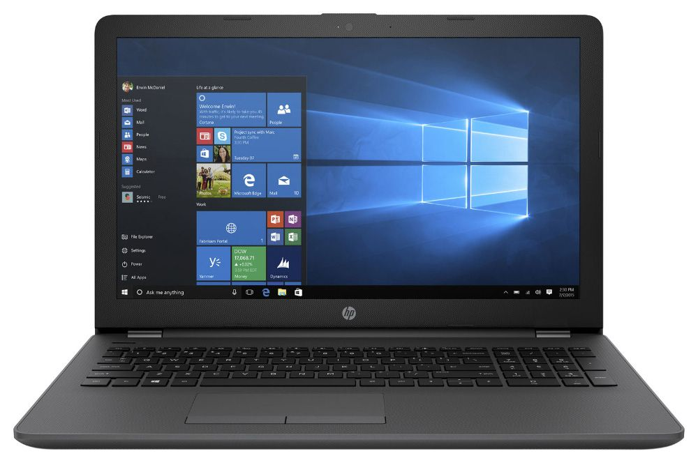 HP 250 G6, Black (1XN65EA)1XN65EAНоутбук HP 250 G6 Core i5 7200U/4Gb/1Tb/DVD-RW/Intel HD Graphics 620/15.6/SVA/HD (1366x768)/Windows 10 Professional 64/black/WiFi/BT/Cam