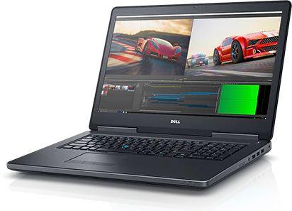 Dell Precision 7720, Black (7720-8055)7720-8055Ноутбук Dell Precision 7720 Core i7 7820HQ/16Gb/2Tb/SSD256Gb/nVidia Quadro P3000 6Gb/17.3/IPS/FHD (1920x1080)/Windows 10 Professional 64/black/WiFi/BT/Cam