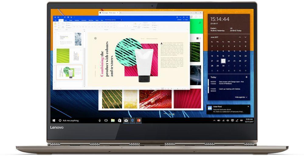 Lenovo Yoga 920-13IKB, Cuprum (80Y7001TRK)80Y7001TRKТрансформер Lenovo YOGA 920-13IKB Core i7 8550U/8Gb/SSD256Gb/Intel HD Graphics 620/13.9/IPS/Touch/FHD (1920x1080)/Windows 10/cuprum/WiFi/BT/Cam