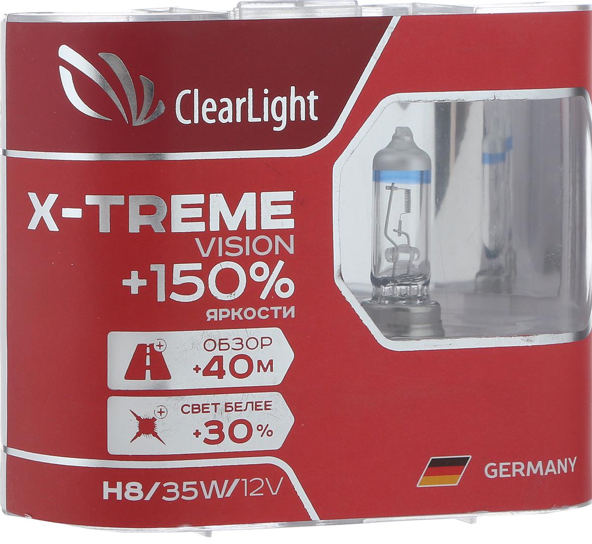 Лампа автомобильная галогенная Clearlight X-treme Vision +150% Light, цоколь H8, 12V, 35W, 2 шт the beatles the white album original recording remastered 2lp