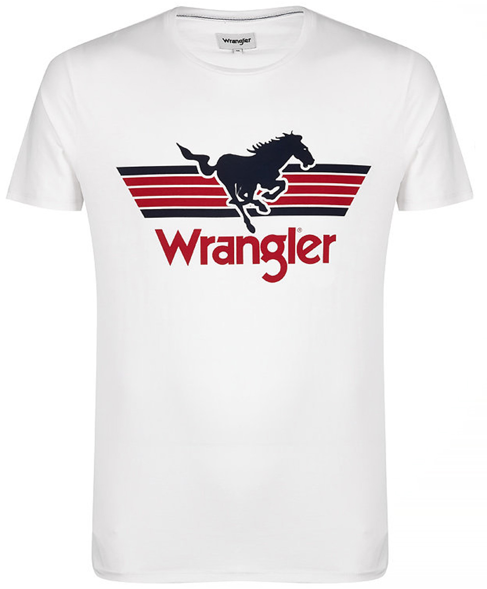 Футболка мужская Wrangler, цвет: белый. W7B27FK02. Размер S (46)W7B27FK02